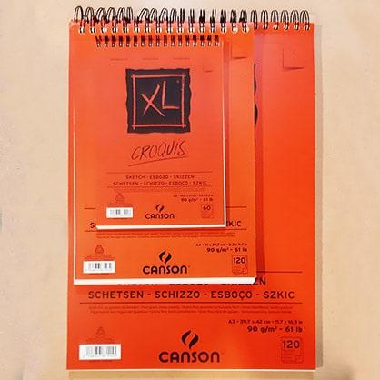 Skicár Canson XL Croquis pre žiakov a študentov hobby kresbu Abc-CreativeArt