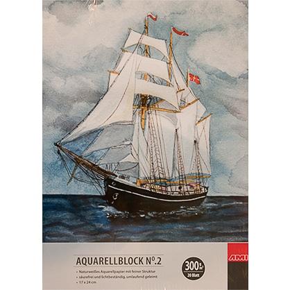 Kvalitný skicár na maľbu akvarelom AMI Aquarellblock Abc-CreativeArt