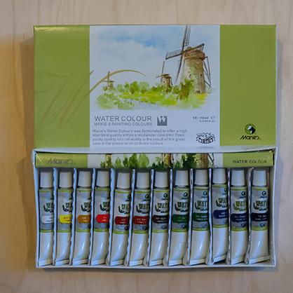 Akvarelové farby Maries v tube Abc creative art kreativ