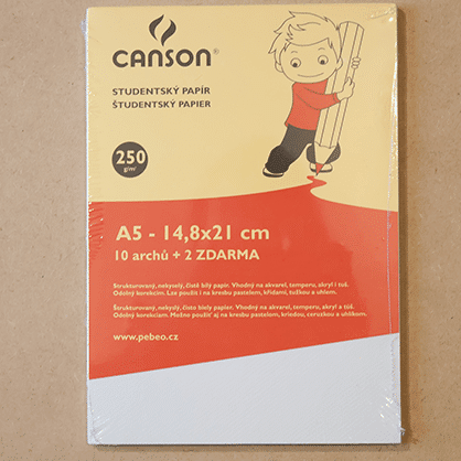Skicár akvarel temperu akryl tuš ceruzku Canson ABC-CreativeArt