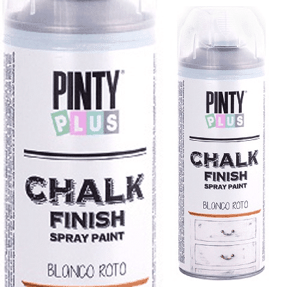 Chalk finish spray paint