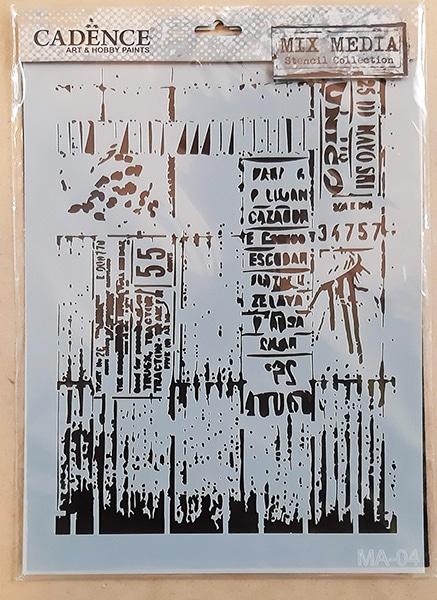 Plastová šablóna MA04