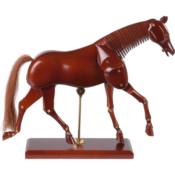 model koňa na kreslenie