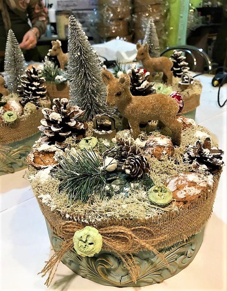 Dekoračná vianočná krabička