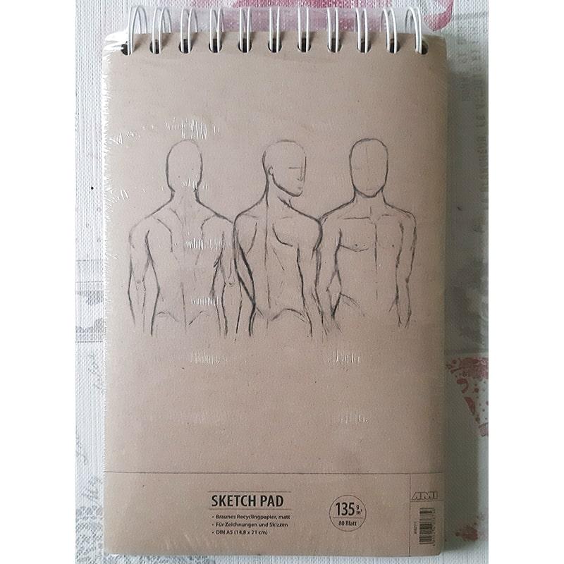Skicár na kresbu A5 hnedý papier