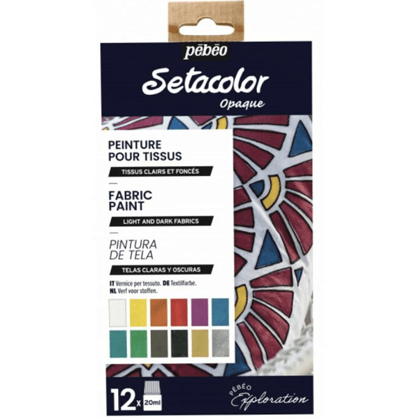 Pebeo Setacolor Opaque farby na textil abc creative art