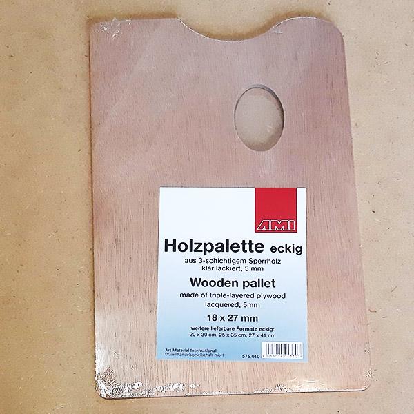 Paleta drevená hranatá 18x27 cm