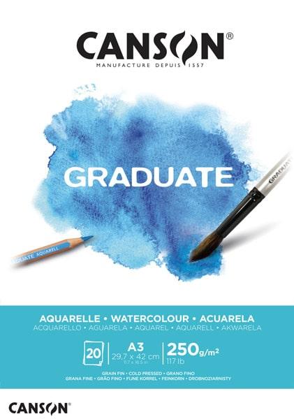 Canson Graduate Watercolour skicár A3 250g