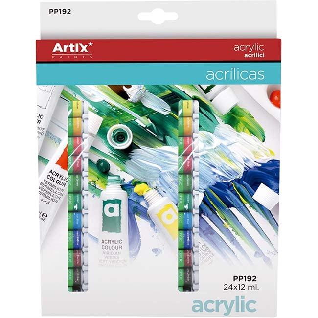 ArtiX Akrylové farby 24x12ml Abc Creative Art